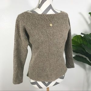 VINCE luxury merino wool boat neckline sweater